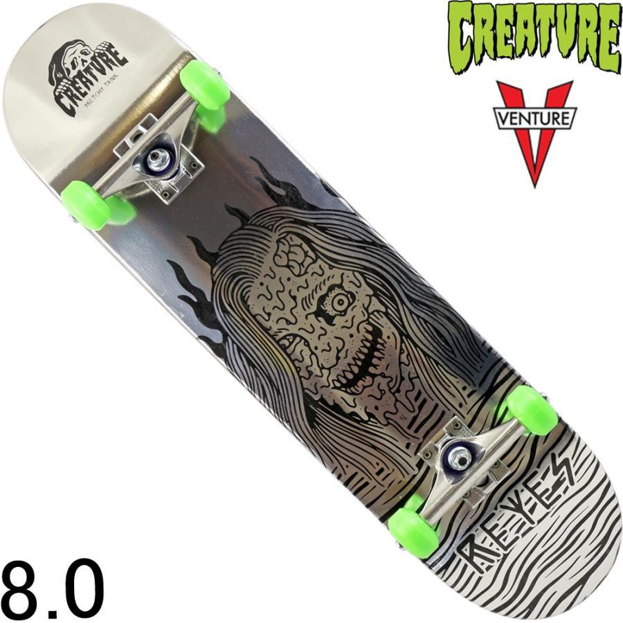 スケートボード スケボー コンプリート 8.0インチ Creature Melted Reyes Pro クリーチャー ブランド ライアン プロモデル ベンチャー 初心者 完成品 セット