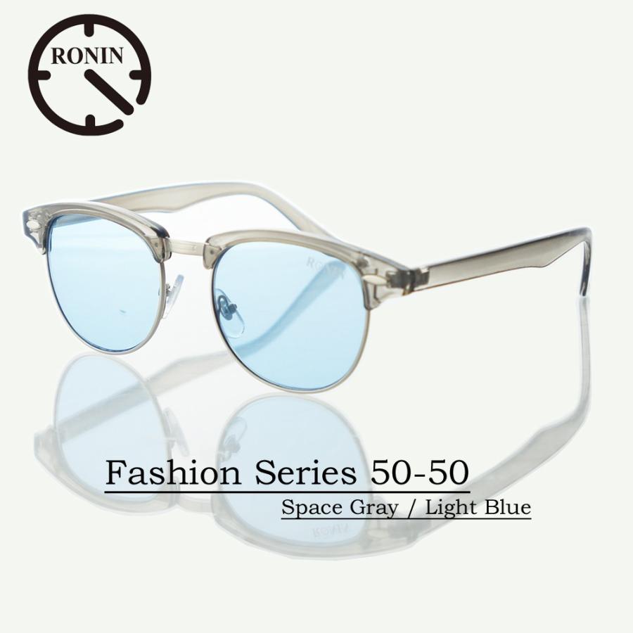 UVカット ファッション グラス Ronin Eyewear ロニンアイウェアー Fashion Series NO5524A13 50-50 Space Gray / Light 青
