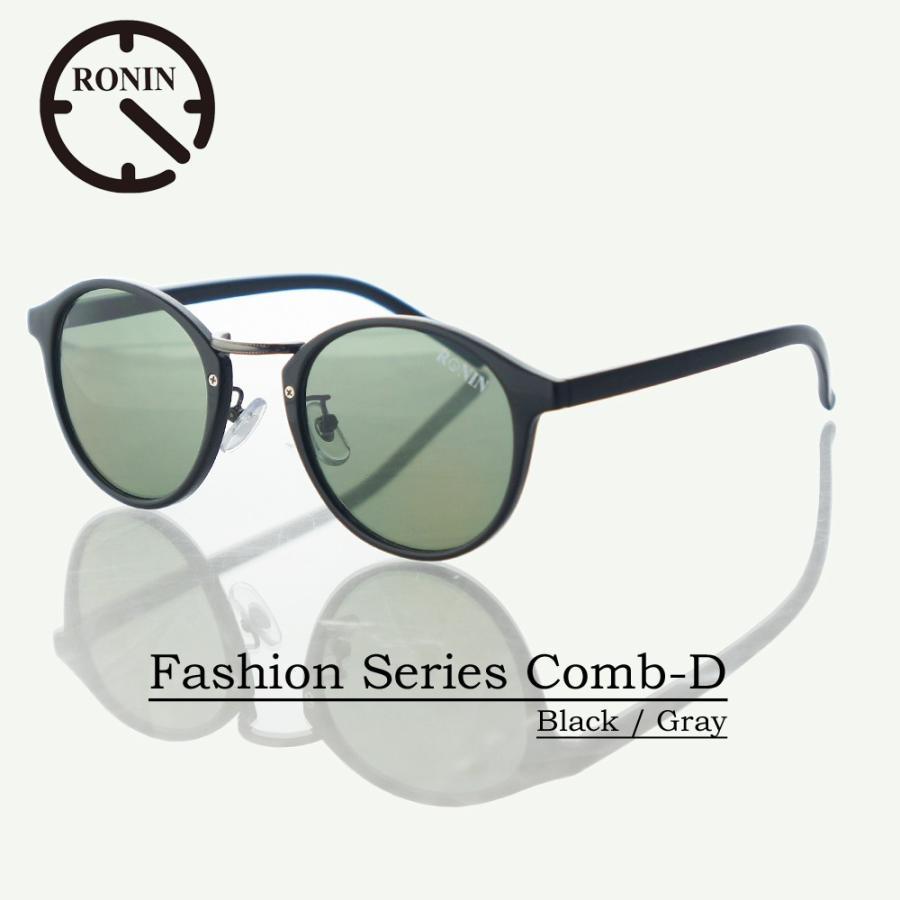 UVカット ファッション グラス Ronin Eyewear ロニンアイウェアー Fashion Series NO5465A8 Comb-D 黒 / Gray