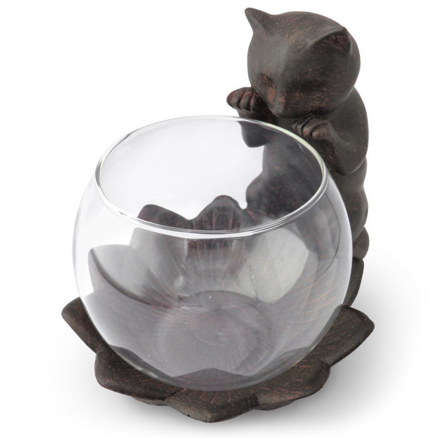 見守り猫フラワーベースのイメージ画像