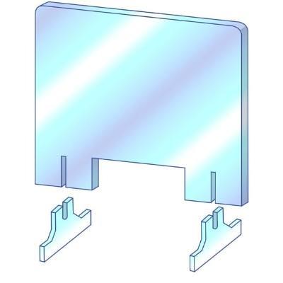 [プラポート公式] 飛沫防止パーテーション Mサイズ H650×W900 高透明PET樹脂使用 正面タイプ窓あり [日本製] cutpla 08