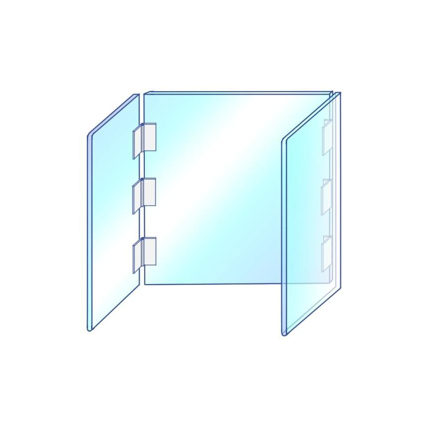 [プラポート公式] コの字タイプパーテーション Lサイズ 高さ600×横幅700×奥行400 高透明PET樹脂使用 [日本製] cutpla 05