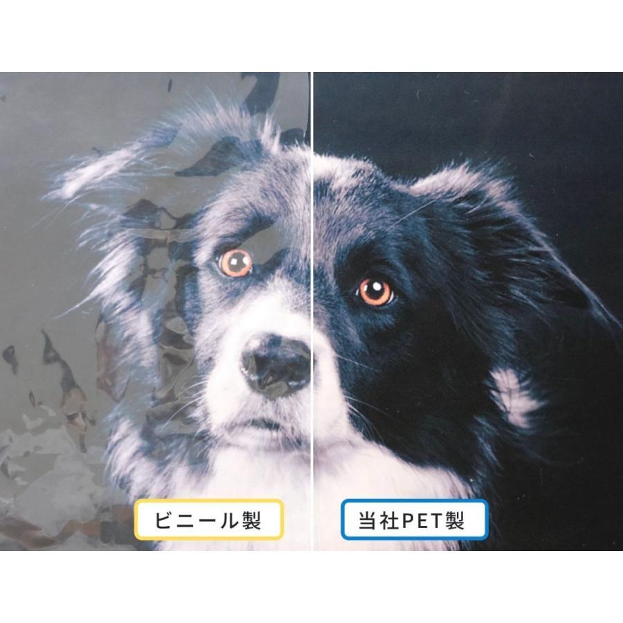 [プラポート公式] 吊り下げパーテーション Cタイプ H900×W900 高透明PET樹脂 ◆ ビニールよりも透明度抜群!![日本製]|cutpla|02