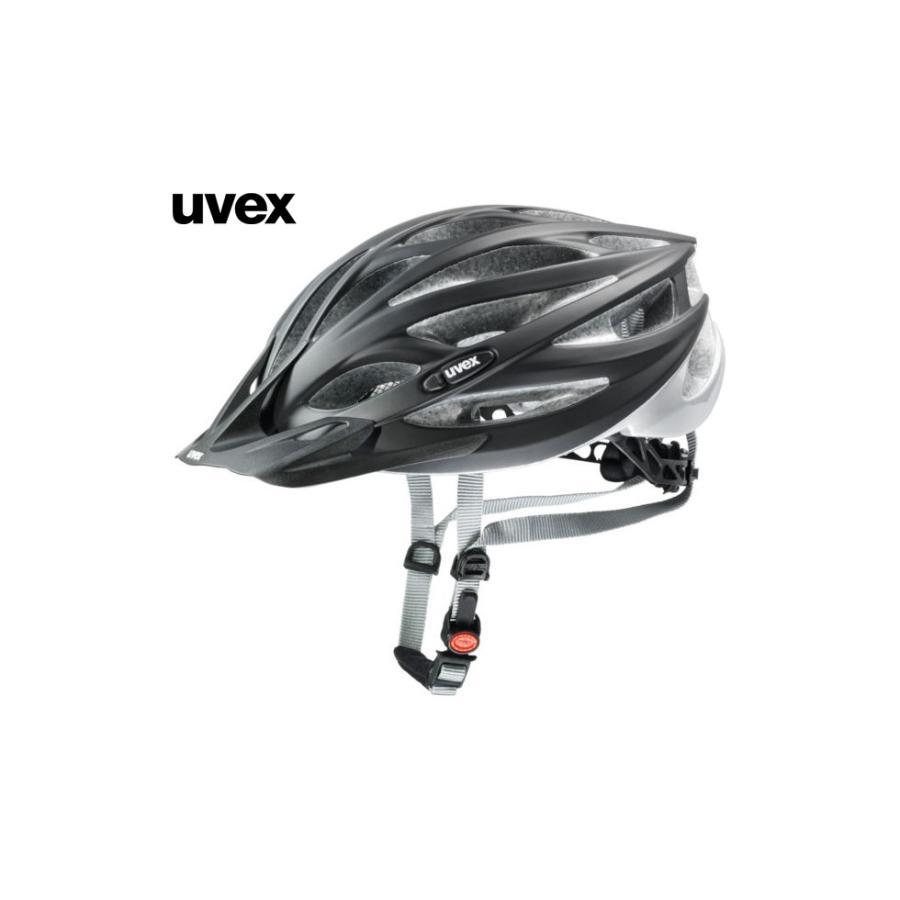 (22日までポイント最大20倍)ウベックス OVERSIZE <ブラックマット/シルバー> MTBヘルメット