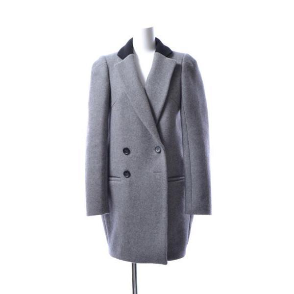 【返品不可】 ENFOLD メルトン バイカラー コクーン コート 38 グレー エンフォルド, テレビショッピング通販王国 8e3e9f76