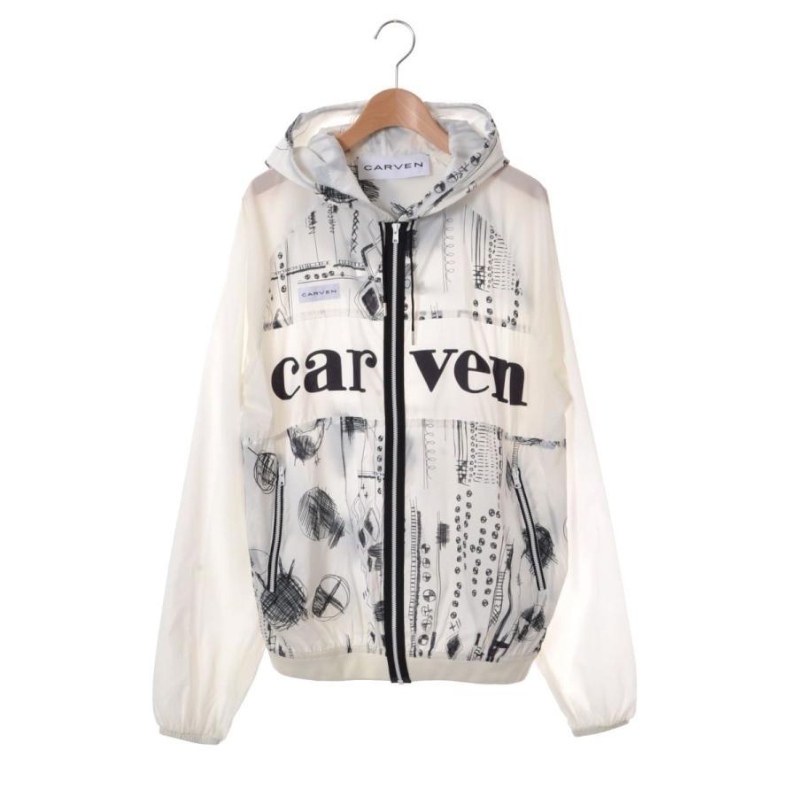 上品 CARVEN ハンドイラスト ナイロン ブルゾン 34 ホワイト カルヴェン, 京のみやび 1e974a52