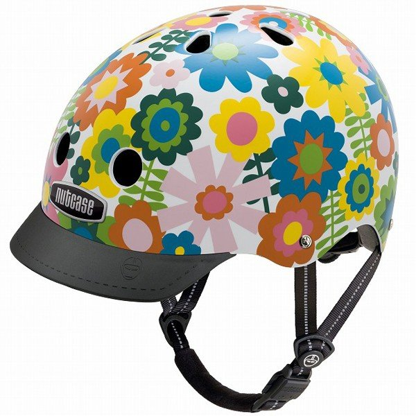 10円募金 ポイント15倍 子供用自転車ヘルメット NUTCASE ナットケース STREET SPORT ストリートスポーツ Sサイズ In Bloom インブルーム