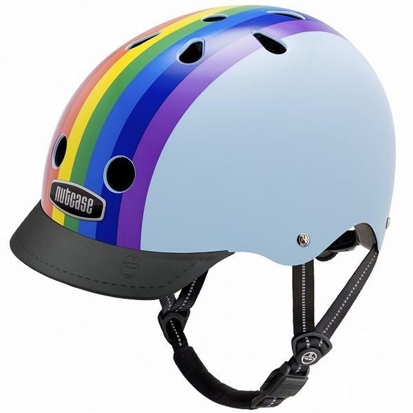 10円募金 ポイント15倍 子供用自転車ヘルメット NUTCASE ナットケース STREET SPORT ストリートスポーツ Sサイズ Rainbow Sky レインボースカイ