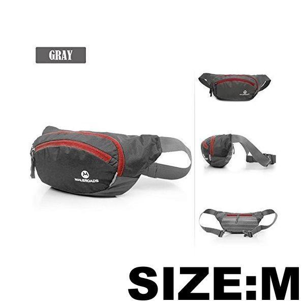ウエストポーチ Mサイズ 4カラー ランニング ヒップバッグ クロスランナー ボディバッグ 送料無料 MALEROADS/MLS2316-M cyclingnet