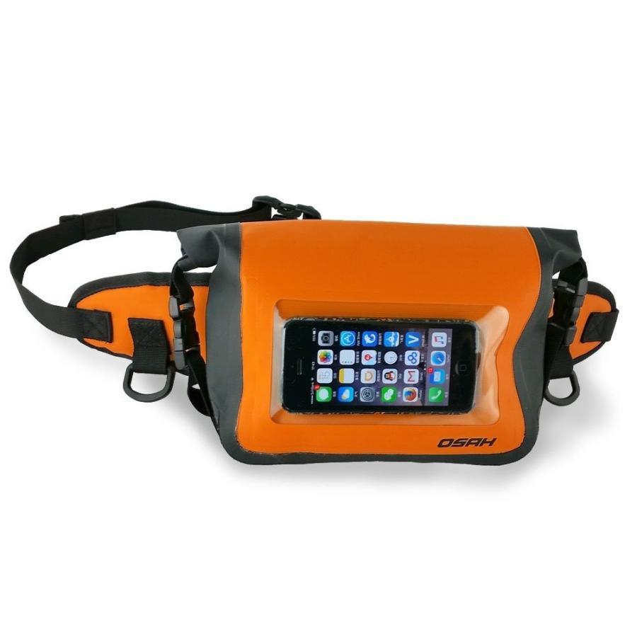 完全防水加工(IPX6)ウエストポーチ 防水ケース スマートフォン外部操作可能 ドライバッグ 送料無料 OSAH//OS-Y1601 cyclingnet 02