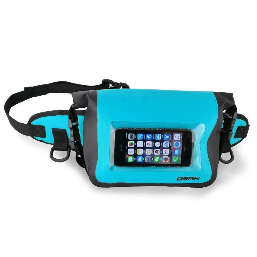 完全防水加工(IPX6)ウエストポーチ 防水ケース スマートフォン外部操作可能 ドライバッグ 送料無料 OSAH//OS-Y1601 cyclingnet 03