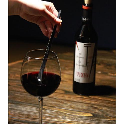 ワインを熟成させる魔法のマドラー 220mm  ヴァンテック ワイン マドラー ステンレス 焼酎 カクテル d-bijin
