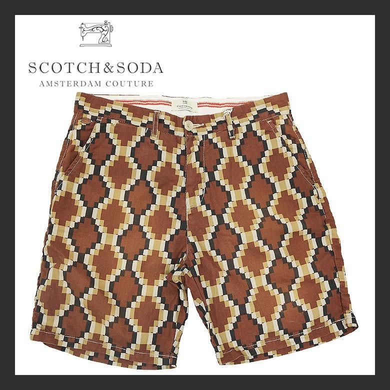 【SCOTCH&SODA】スコッチアンドソーダ Washed cotton short pants ウォッシュドコットンショートパンツ ハーフパンツ ショーツ メンズ カジュアル レトロ