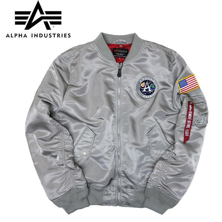 【ALPHA】アルファ ALPHA INDUSTRIES ライトMA-1 アポロII L-2B フライトジャケット バッチ アレンジ メンズ d-bland2nd