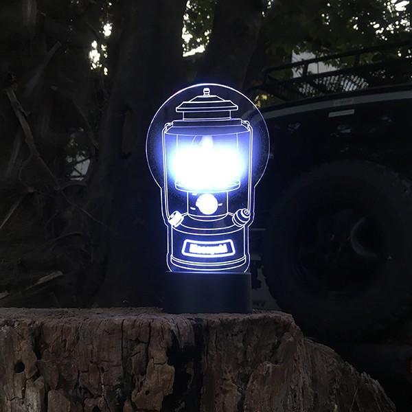 名入れもできる ランタン絵柄 LEDアクリルスタンド 7色 ホワイトデー 2021|d-craft|02