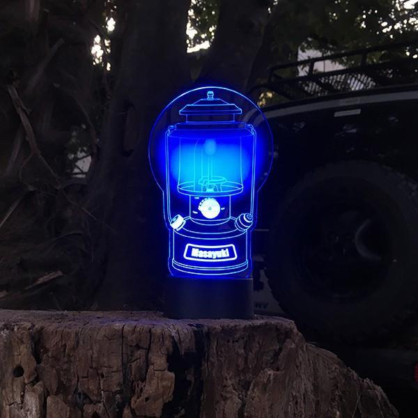 名入れもできる ランタン絵柄 LEDアクリルスタンド 7色 ホワイトデー 2021|d-craft|05