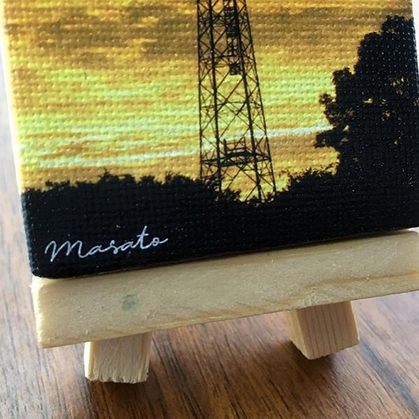 名入れ 文字入れ OK 好きな写真や絵で作れるプリントミニキャンバス イーゼル付き 5×7cm 油絵 キャンパス カンバス ホワイトデー 2021 d-craft 04