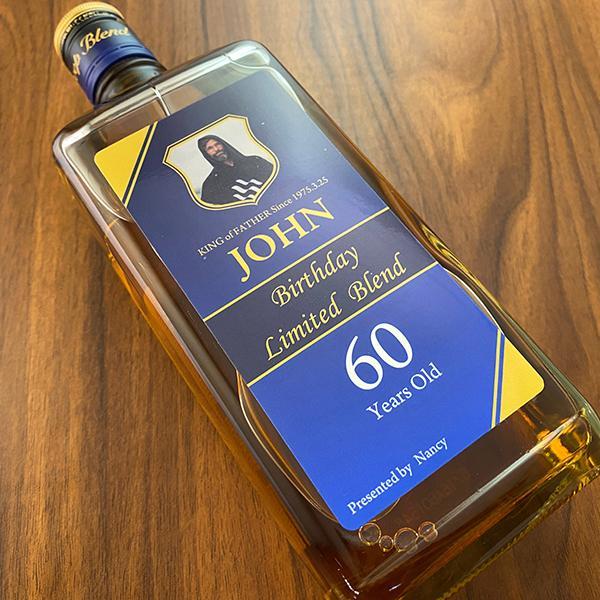 名入れギフト プレゼント ウイスキー whisky ブラックニッカ ディープ ブレンド 45度 好きな写真で作れる名入れプリントボトル 700ml|d-craft|03
