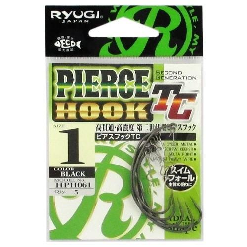ささめ針(SASAME) RYUGI ピアスフックTC HPH061 1号 ブラック ネコポス対象商品 d-park