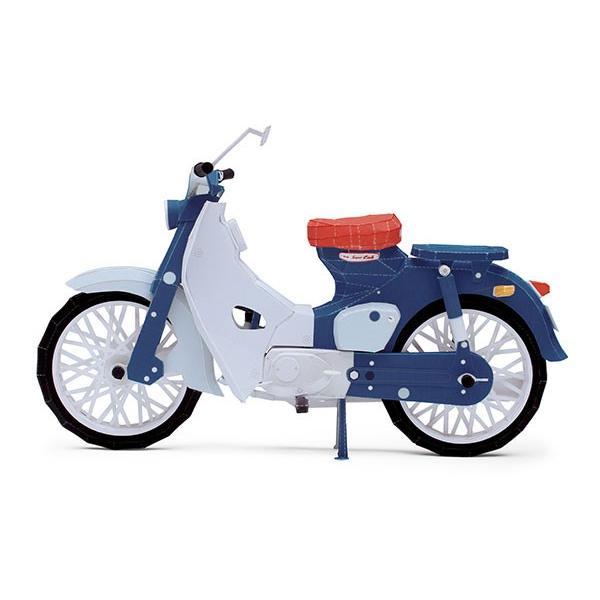 アップリフトモデルズ ミニ ホンダ スーパーカブ C100 -1958- ペーパークラフト(1/11スケール) d-tsutayabooks 03