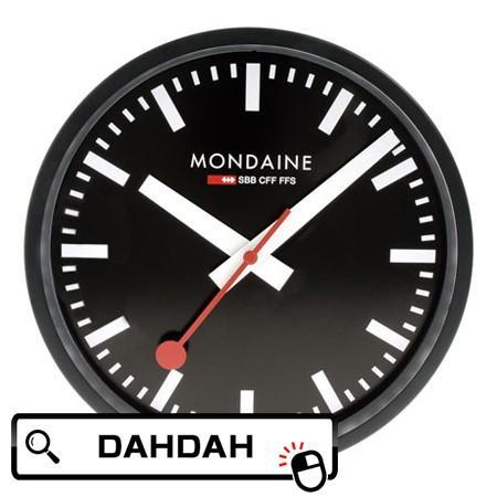 【クーポン利用で10%OFF】ウォールクロック A990.CLOCK.64SBB MONDAINE モンディーン クロック 掛け時計 国内正規品 送料無料
