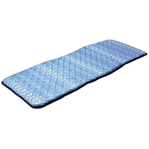 萩原 ひんやりグッズ ブルー 約55×150cm 両面長座布団 接触冷感 ひんやり 「キリムクール」 240613545