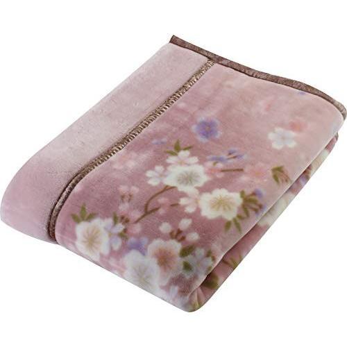 京都西川 毛布 ピンク シングル 140×200 日本製 2枚合わせ 洗える アクリル 静電気帯電抑制素材 2K2484