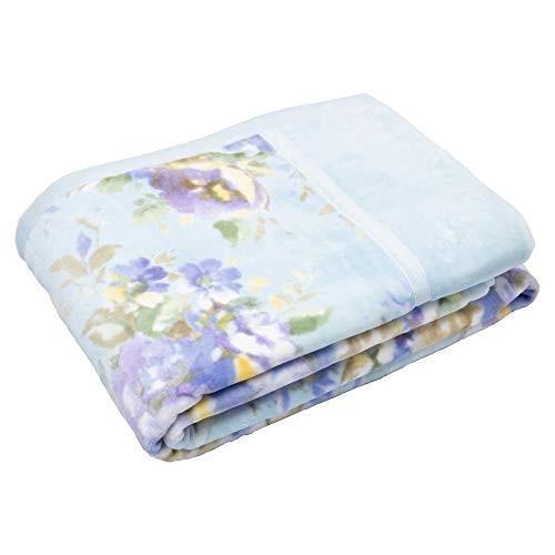 東京西川 綿毛布 ブルー シングル 綿100% 日本製 ふっくら ボリューム 完熟綿 マイモデル FQ08081034B