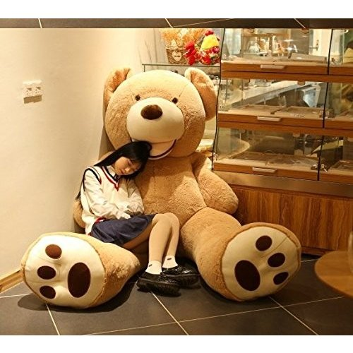 HYAKURI特大 くま/テディベア 可愛い熊 動物 大きい/巨大 くまぬいぐるみ/熊縫い包み/クマ抱き枕/お祝い/ふわふわぬいぐるみ (130cm