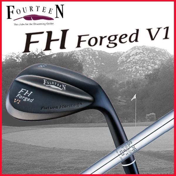 (マットブラック仕上げ) フォーティーン (FOURTEEN) FHフォージド V1ウェッジ N.S.PRO 950GH HTシャフト