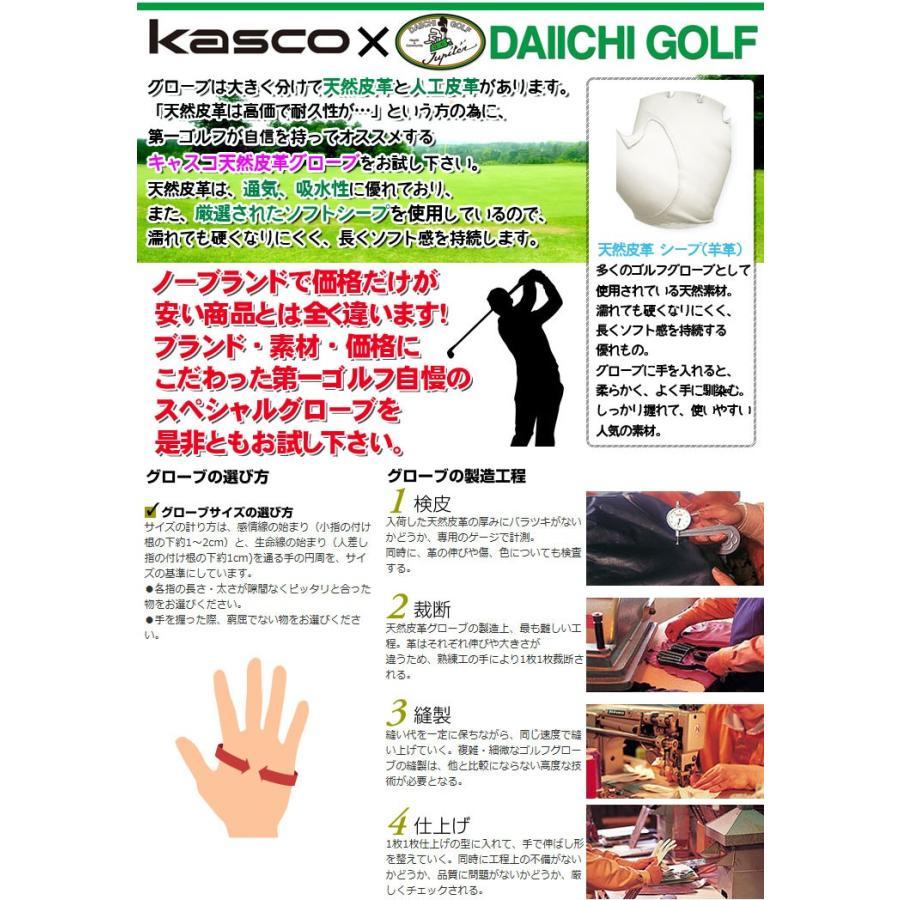 キャスコ 本格天然皮革 グローブ  TK-320 (パッケージ無し) (5枚同時購入でネコポス送料無料) daiichigolf 02