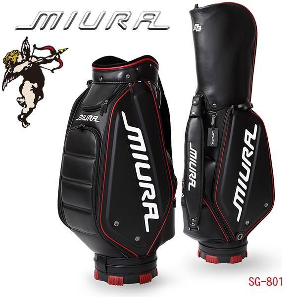 三浦技研 キャディバッグ SG-801 9型 (46インチ対応) ブラック MIURA Caddie Bag