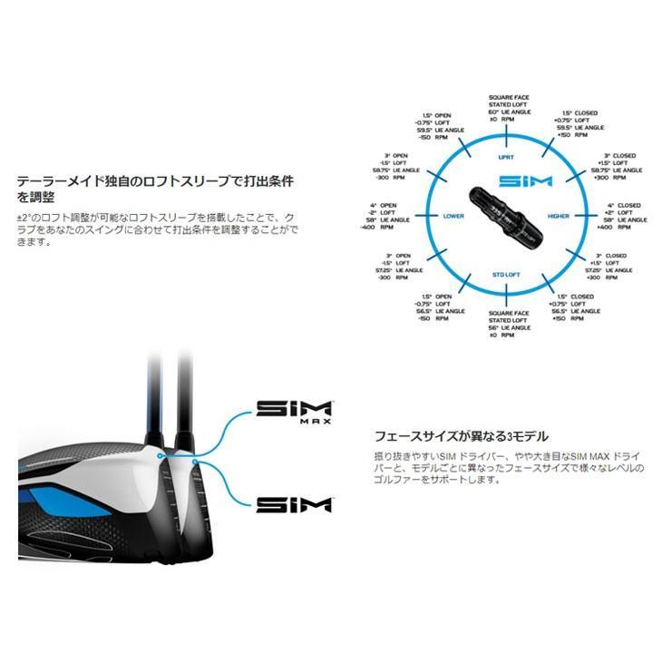 (期間限定・高反発セット) テーラーメイド Taylormade SIM MAX シム マックス ドライバー TENSEI BLUE TM50 純正カーボンシャフト テンセイブルー 日本正規品|daiichigolf|04