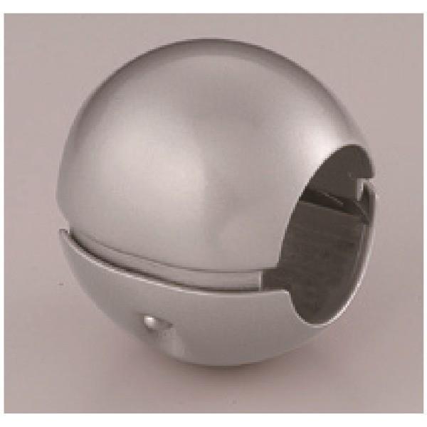 【通販 人気】 シルバー 日本製 直径38mm 〔5個セット〕階段手すり滑り止め 亜鉛合金 シロクマ 『どこでもグリップ』ボール形-介護用品