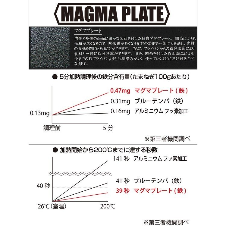匠 マグマプレート フライパン 20cm MGFR20 IH使用可能|daily-3|02