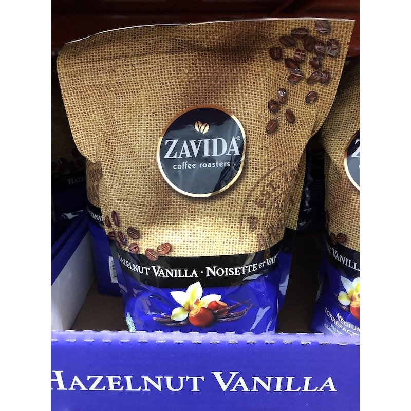 【コストコ】ZAVIDA/ザビダ ヘーゼルナッツバニラ ホールビーン コーヒー豆 【907g】 フレーバー プレミアム カナダ産【Z】|daishin-bussan2