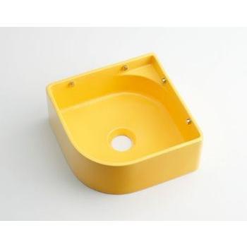 カクダイ KAKUDAI 【個人宅不可】 壁掛手洗器//イエロー No.493-048-Y [A150101]