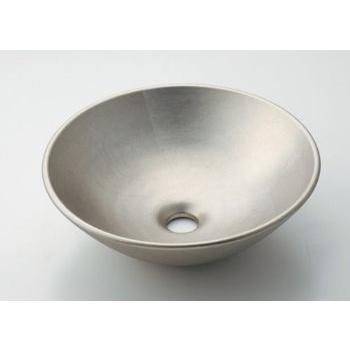 カクダイ KAKUDAI 【個人宅不可】 丸型手洗器//白銀 No.493-095-T [A150101]