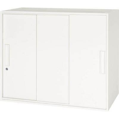 ダイシン工業 壁面収納庫 3枚引戸型 上下兼用W800 ホワイト V840-07TS [F012202]
