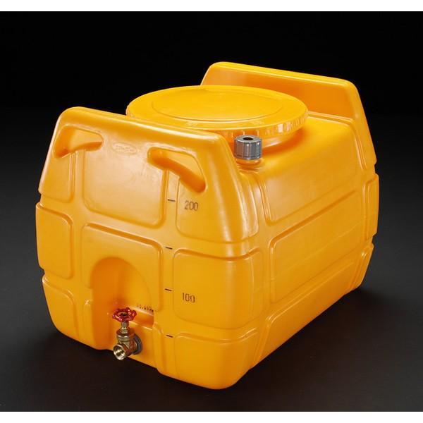エスコ ESCO 600L ポリエチレン給水容器(バルブ付) EA991AB-5 [I270302]