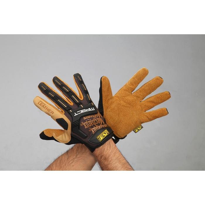 エスコ ESCO (LL) 手袋・メカニック(革/ブラウン) EA353BY-224 [I260128]