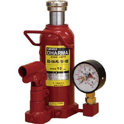 今野製作所 イーグル 置針式ゲージ付油圧ジャッキ 能力16t ED-160-PG-75H-160 [A131101]