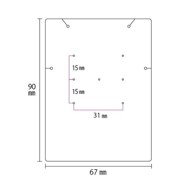 アクセサリー台紙 LL 無地 ネックレス ピアス ブレスレット用 67×90mm 30枚 2種|daishiyapro|05