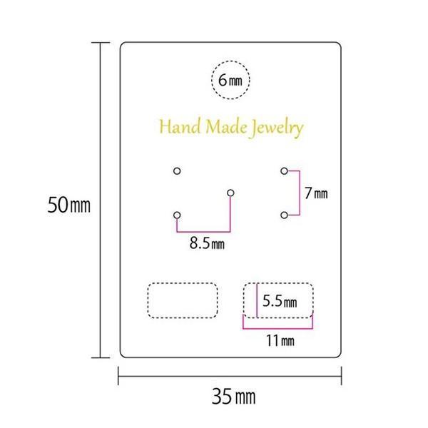 アクセサリー台紙 M ロゴ入り ピアス イヤリング用 35×50cm 30枚 2種|daishiyapro|05