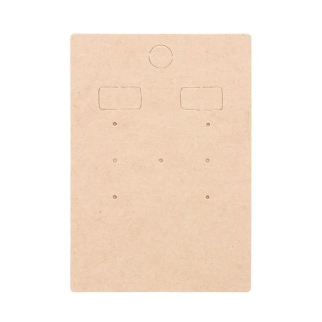 アクセサリー台紙 L(穴上) ピアス イヤリング用 クラフト紙 47×67mm 30枚 D080|daishiyapro|03