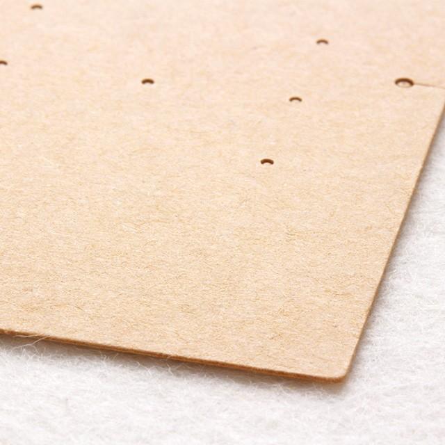 アクセサリー台紙 L(穴上) ピアス イヤリング用 クラフト紙 47×67mm 30枚 D080|daishiyapro|04