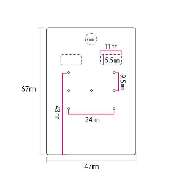 アクセサリー台紙 L(穴上) ピアス イヤリング用 クラフト紙 47×67mm 30枚 D080|daishiyapro|05