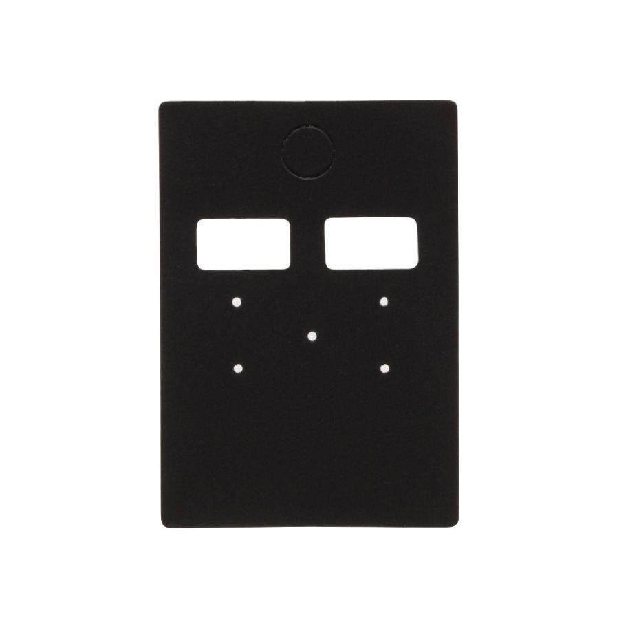 アクセサリー台紙 M(穴上) ピアス イヤリング用 黒 35×50mm 30枚 D088 daishiyapro 02