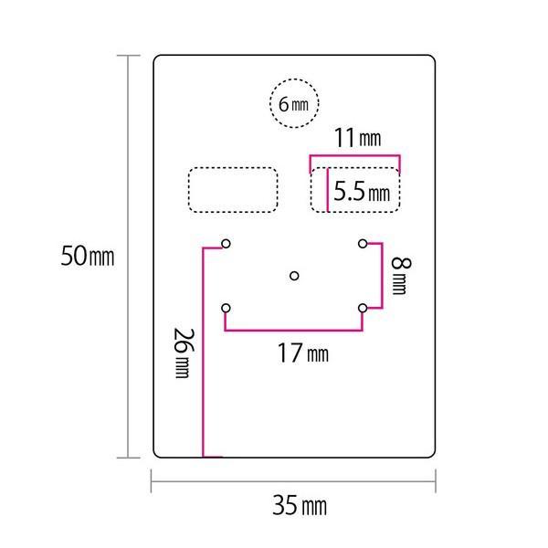 アクセサリー台紙 M(穴上) ピアス イヤリング用 黒 35×50mm 30枚 D088 daishiyapro 04