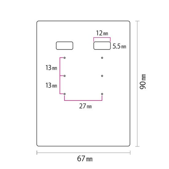 アクセサリー台紙 LL(穴上) 無地 ピアス イヤリング用 67×90mm 30枚 2種 daishiyapro 05